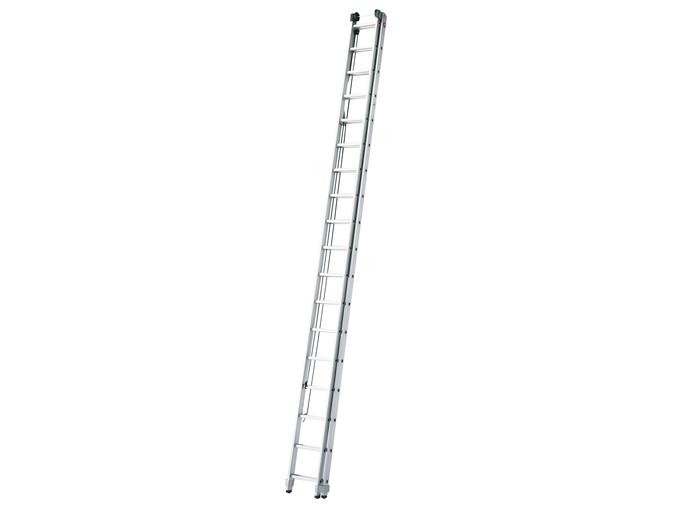 Hliníkový dvoudílný lanový žebřík HAILO PROFISTEP DUO 2 x 18 příček