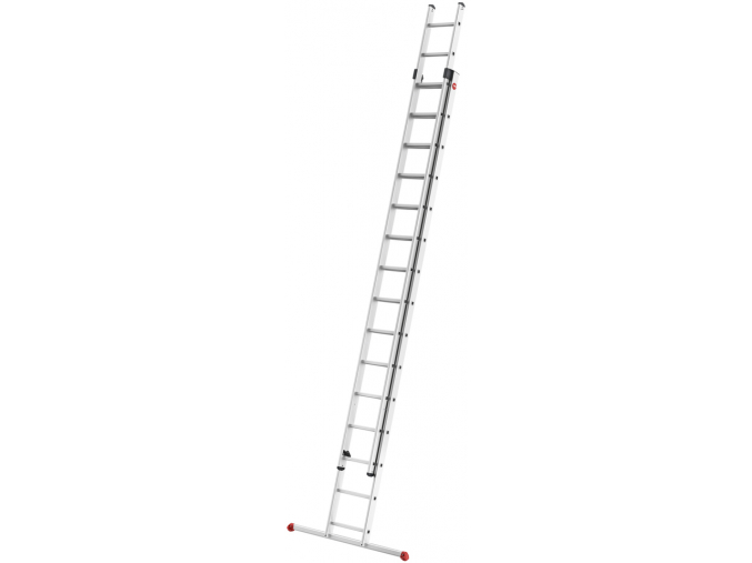 Hliníkový dvoudílný výsuvný žebřík HAILO PROFISTEP DUO 2 x 15 příček