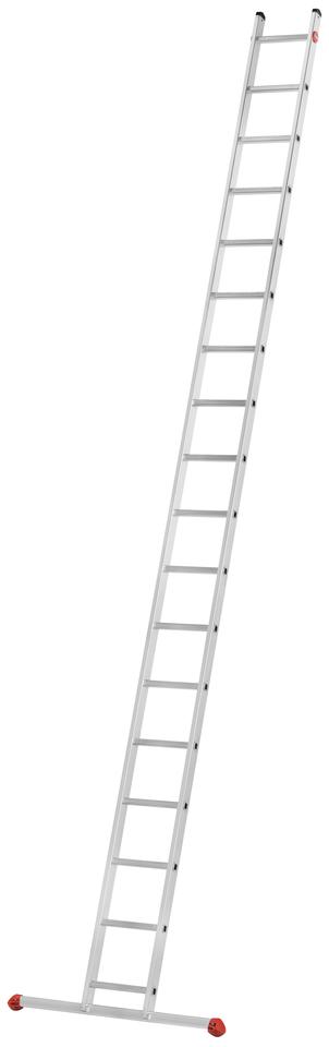 Hliníkový žebřík opěrný jednoduchý HAILO PROFISTEP UNO 18 příček