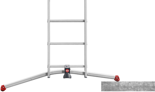 Hliníkový třídílný žebřík výsuvný HAILO PROFILOT COMBI 2 x 6 + 1 x 5 příček