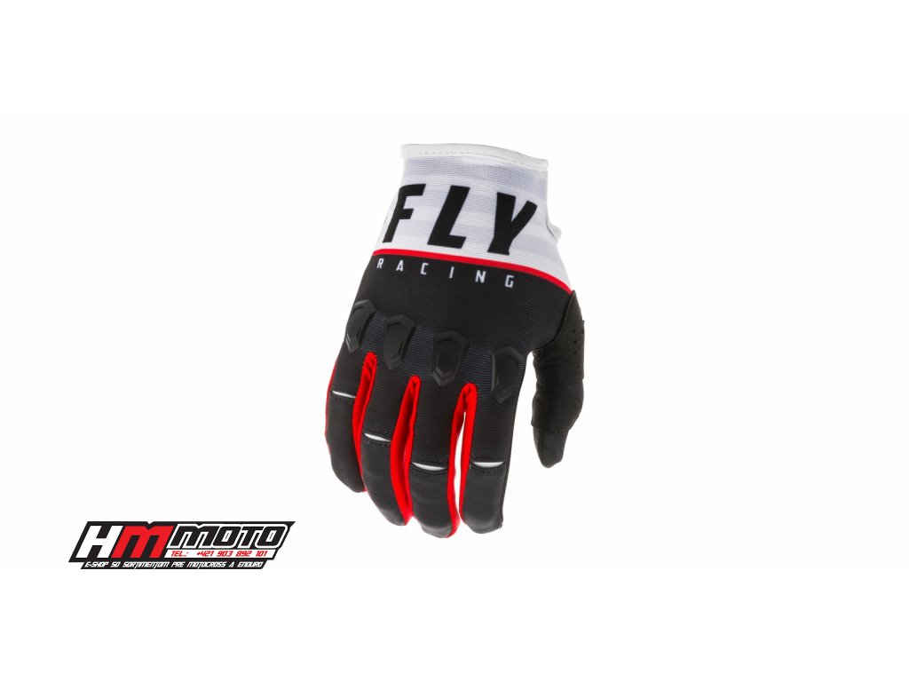 rukavice kinetic k120 2020 fly racing usa cerna bila cervena i374516