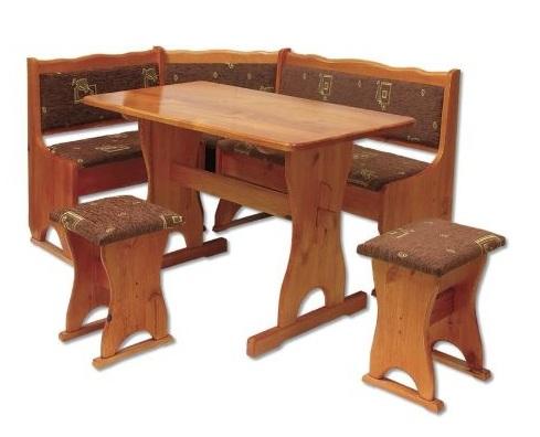 Rohové jídelní lavice