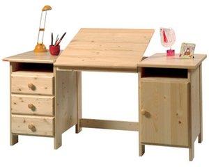 psací stoly z masivu