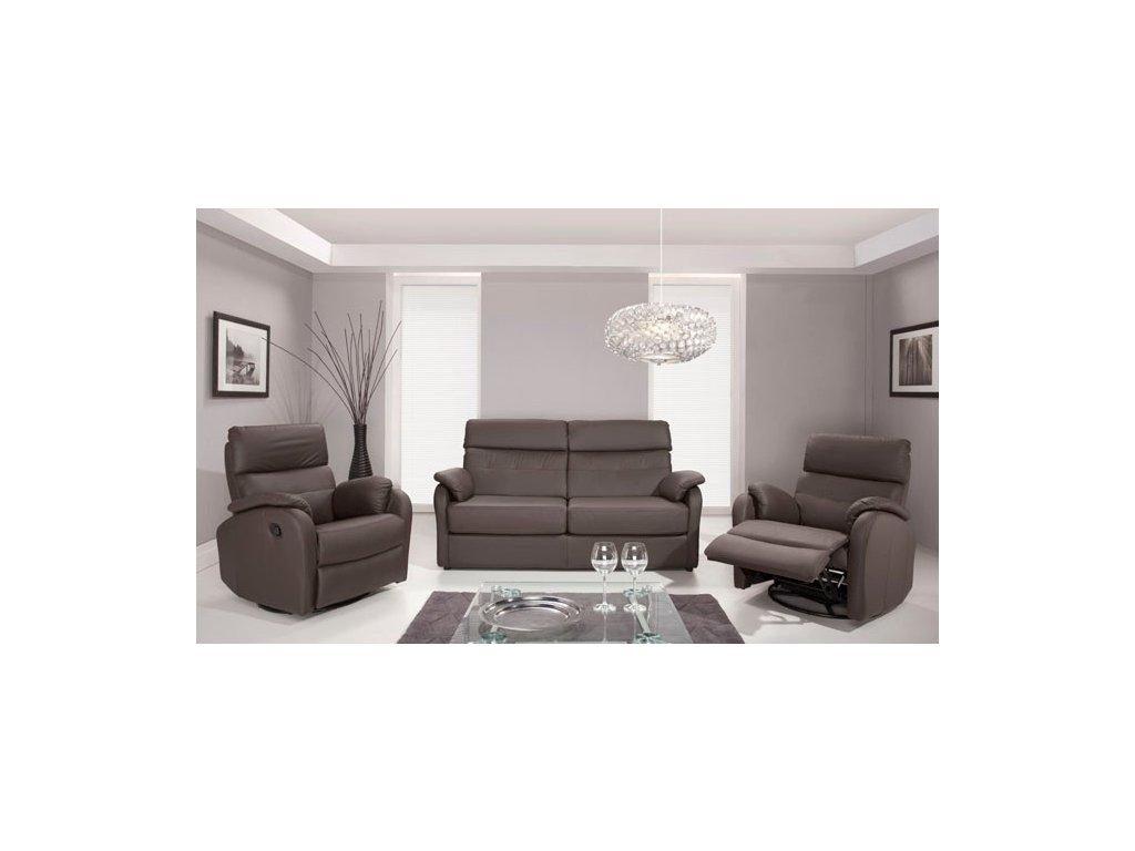 Kožená sedací souprava MAGNUM 3+1 s relaxačními funkcemi