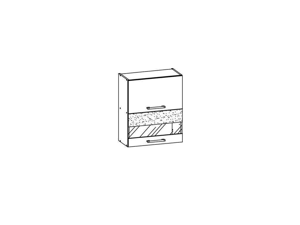 Horní vitrína 60 MODENA MD8/G60W