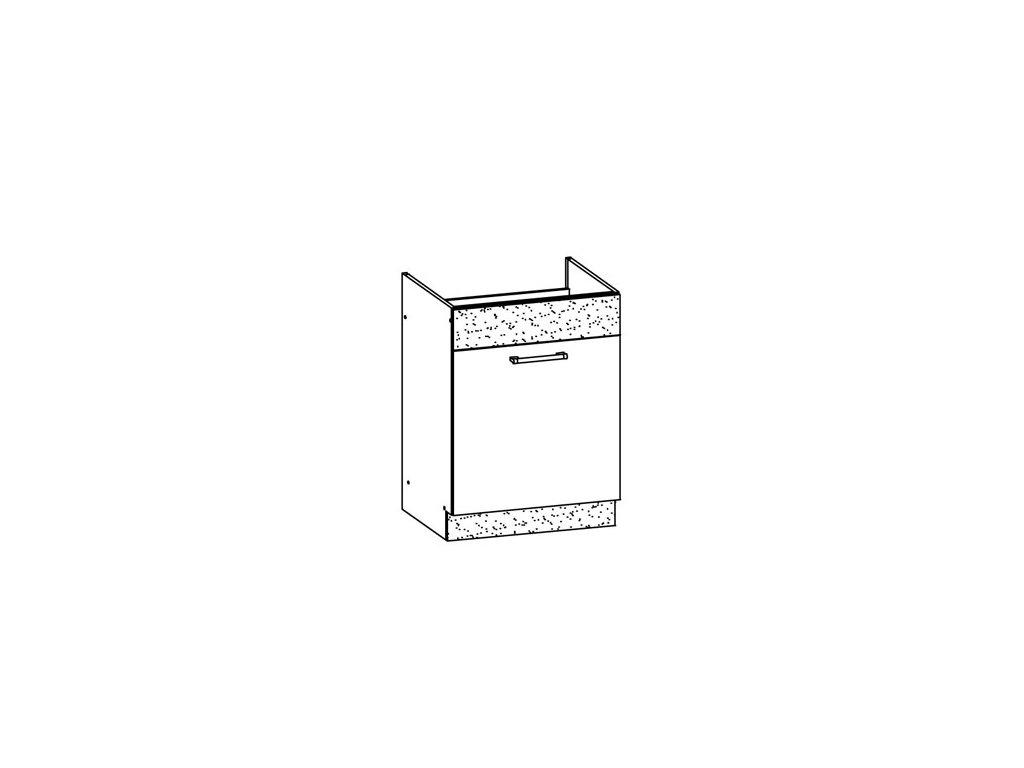 Dolní skříňka dřezová LP 60 MODENA MD18/D60Z