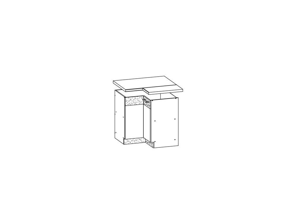 Dolní skříňka rohová LP 90/90 MODENA MD21/D90NW