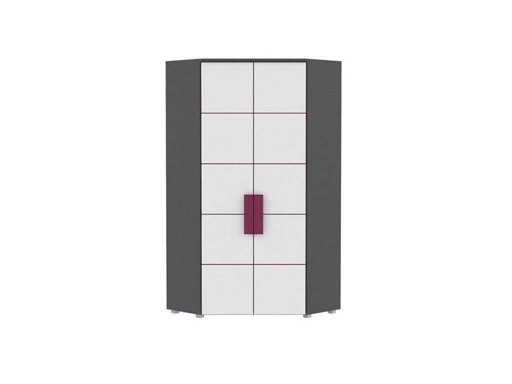 Rohová šatní skříň LIBELLE LBLS89