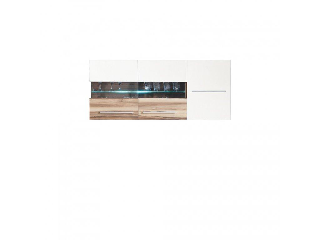 Závěsná vitrína MONSUN MN 10 - 2 barvy