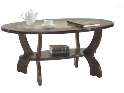 Konferenční stolek Oválný se sklem