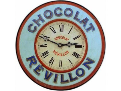Nástěnné hodiny - Chocolat - modré - 36cm