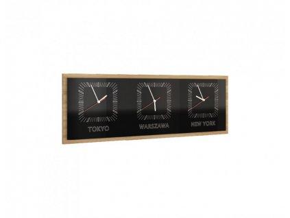 Trojité horizontální hodiny SMART