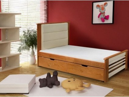 Dětská postel AMELIA 90x200 cm borovice natural