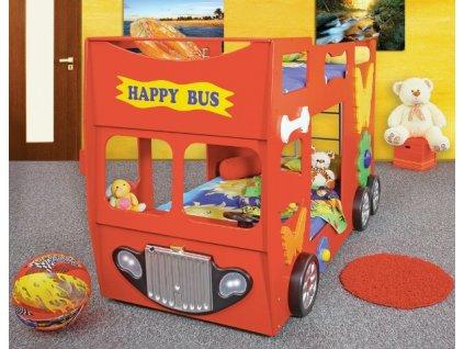 Patrová postel HAPPY BUS  - 4 barvy