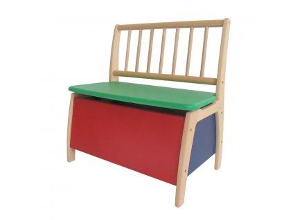 Dětská lavička BAMBINO - BAREVNÁ