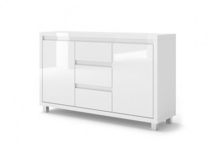 150996 moderna biela leskla komoda nordic bianco 2(1)