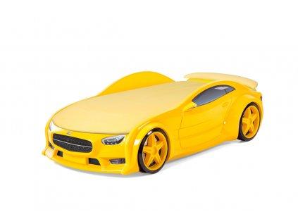 Dětská postel AUTO NEO - žlutá