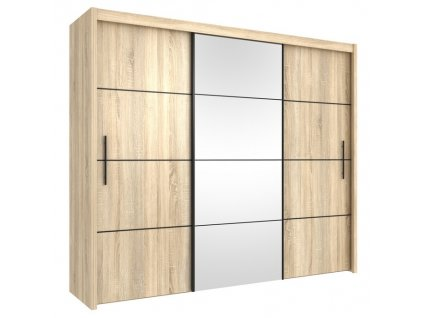 Šatní skříň INOVA dub sonoma/černá 250