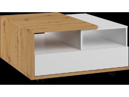 konferencni stolek HYBRID 01 dub artisan bily lesk