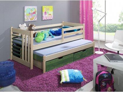 Dětská postel ŠIMON s přistýlkou