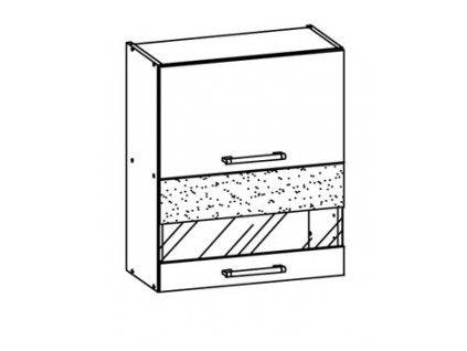 Horní skříňka MODENA MD8/G60W