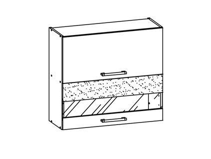 Horní skříňka MODENA MD9/G80W
