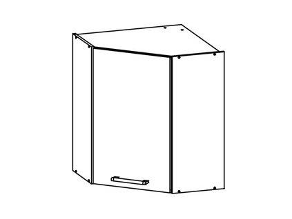 Horní rohová skříňka LP 60/60 MODENA MD10/G60NW