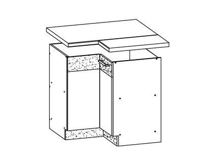 Dolní skříňka rohová MODENA MD21/D90NW L/P
