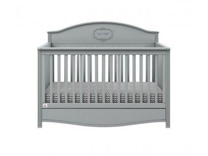 Dětská postýlka GOOD NIGHT Grey 70x140cm / sofa