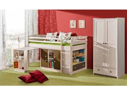 Dětská vyvýšená postel + 2 komody KAMIL