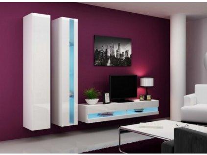 Obývací stěna VIGO NEW V bílá / bílý lesk