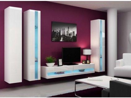 Obývací stěna VIGO NEW VI bílá / bílý lesk