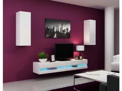 Obývací stěna VIGO NEW X bílá / bílý lesk