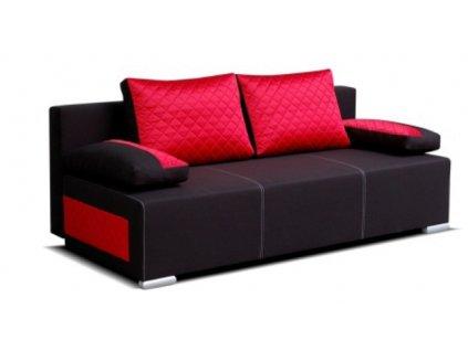 Pohovka DIEGO černo/červená