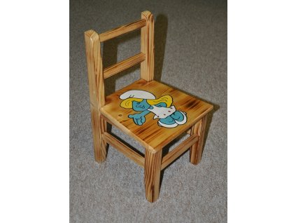Dětská židlička AD 230 s motivy - masiv