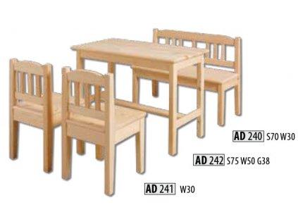 Dětská  lavička AD 240
