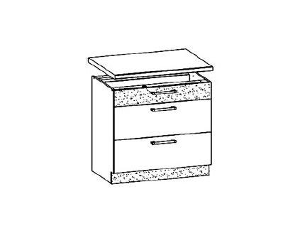 Dolní skříňka šuplíková 80 MODENA MD28/D80S3