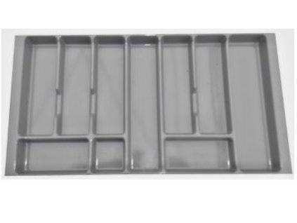 Příborník Modena 80 cm - plastový šedý