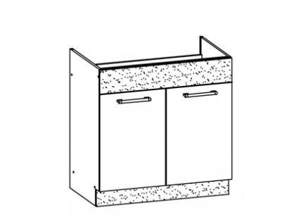 Dolní skříňka dřezová 80 MODENA MD19/D80Z MDF