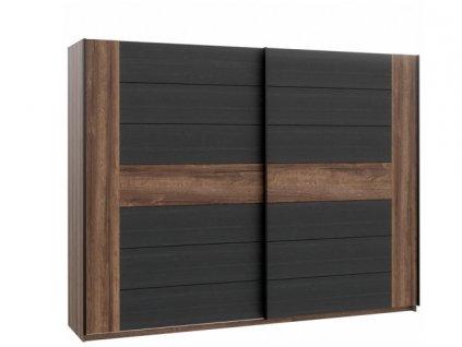 Šatní skříň s posuvnými dveřmi BELLEVUE BLQS128E1