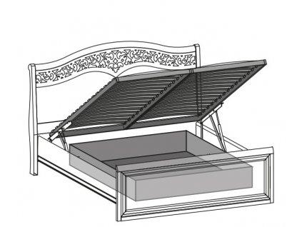 Uložná prostor do postelí VERONA s vyklápěcím mechanismem