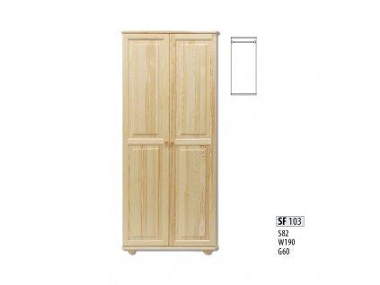 Skříň dřevěná masivní SF 103