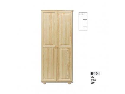 Skříň dřevěná masivní SF 104