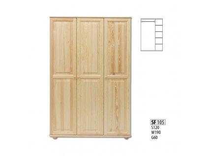 Skříň dřevěná masivní SF 105
