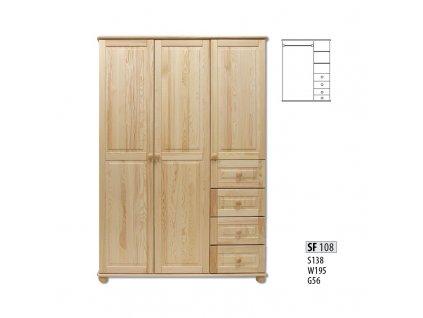 Skříň dřevěná masivní SF 108