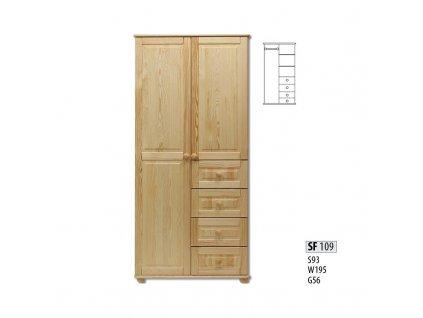 Skříň dřevěná masivní SF 109