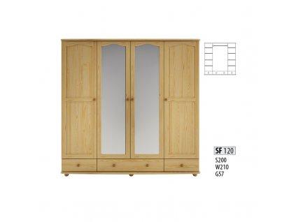 Skříň dřevěná masivní SF 120