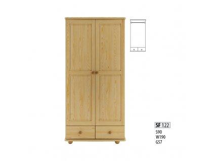 Skříň dřevěná masivní SF 122