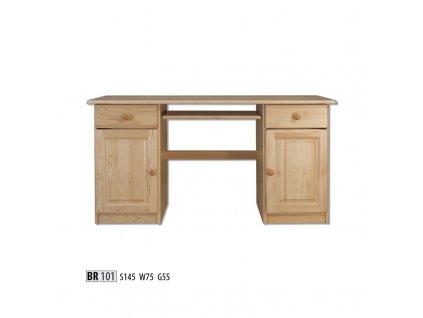 PC stůl BR 101 borovice masiv