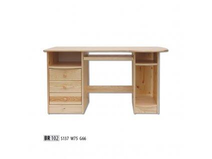 PC stůl BR 102 borovice masiv